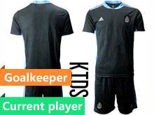 Baby 20-21 Soccer Mexico National Team Current Player Black Goalkeeper Short Sleeve Suit Jersey