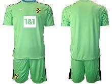 Mens 20-21 Soccer Borussia Dortmund Club ( Custom Made ) Green Goalkeeper Short Sleeve Suit Jersey