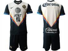 Mens 20-21 Soccer America Club ( Custom Made ) Navy Away Short Sleeve Suit Jersey