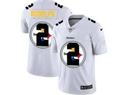 Mens Pittsburgh Steelers #2 Mason Rudolph White Shadow Logo Vapor Untouchable Limited Jersey