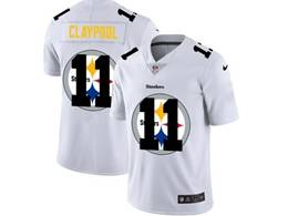 Mens Nfl Pittsburgh Steelers #11 Chase Claypool White Shadow Logo Vapor Untouchable Limited Jersey