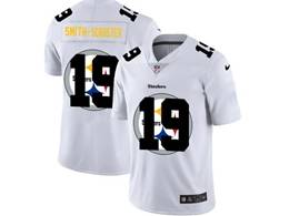 Mens Nfl Pittsburgh Steelers #19 Juju Smith-schuster White Shadow Logo Vapor Untouchable Limited Jersey