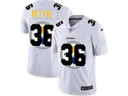 Mens Nfl Pittsburgh Steelers #36 Jerome Bettis White Shadow Logo Vapor Untouchable Limited Jersey