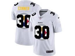 Mens Nfl Pittsburgh Steelers #30 James Conner White Shadow Logo Vapor Untouchable Limited Jersey