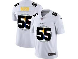 Mens Nfl Pittsburgh Steelers #55 Devin Bush Heather White Shadow Logo Vapor Untouchable Limited Jersey