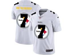 Mens Nfl Pittsburgh Steelers #7 Ben Roethlisberger White Shadow Logo Vapor Untouchable Limited Jersey