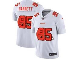 Mens Nfl Cleveland Browns #95 Myles Garrett White Shadow Logo Vapor Untouchable Limited Jersey