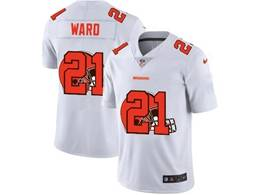 Mens Nfl Cleveland Browns #21 Denzel Ward White Shadow Logo Vapor Untouchable Limited Jersey