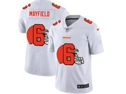 Mens Nfl Cleveland Browns #6 Baker Mayfield White Shadow Logo Vapor Untouchable Limited Jersey