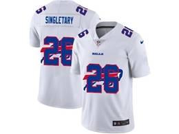 Mens Nfl Buffalo Bills #26 Devin Singletary White Shadow Logo Vapor Untouchable Limited Jersey