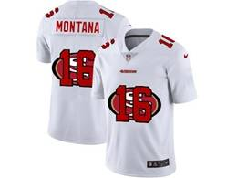 Mens Nfl San Francisco 49ers #16 Joe Montana White Shadow Logo Vapor Untouchable Limited Jersey