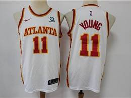 Mens Nba Atlanta Hawks #11 Trae Young White 2020 New Swingman Nike Jersey