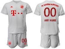Mens 20-21 Soccer Bayern Munchen ( Custom Made ) White Away Short Sleeve Suit Jersey
