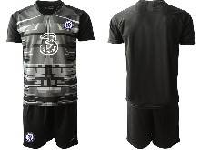 Mens 20-21 Soccer Chelsea Club ( Custom Made ) Black Goalkeeper Short Sleeve Suit Jersey