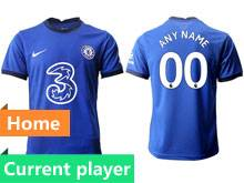 Mens 20-21 Soccer Chelsea Club Current Player Blue Home Thailand Short Sleeve Jersey