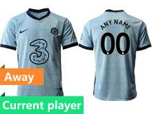 Mens 20-21 Soccer Chelsea Club Current Player Blue Away Thailand Short Sleeve Jersey