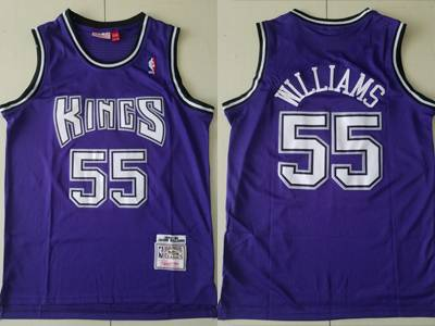 Mens Nba Sacramento Kings #55 Jason Williams Pruple Mitchell&ness Mesh Jersey