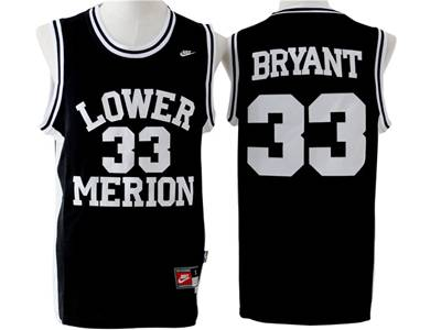 Mens Ncaa Nba Lower Merion #33 Bryant Black Swingman Jersey