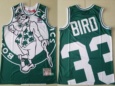 Mens Nba Boston Celtics #33 Larry Bird Green Printing Mitchell&ness Fashion Swingman Jersey