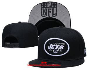 Mens Nfl New York Jets Black Snapback Adjustable Hats Black Ec8500915