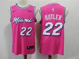 Mens Nba Miami Heat #22 Jimmy Butler Pink 2020 Award Edition Nike Swingman Jersey