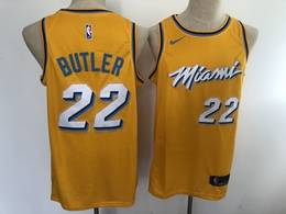 Mens Nba Miami Heat #22 Jimmy Butler Yellow 2020 City Edition Nike Swingman Jersey