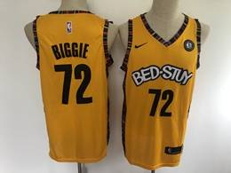 Mens Nba Brooklyn Nets #72 Biggie Yellow Bed-stuy 2020 Music Edition Nike Swingman Jersey
