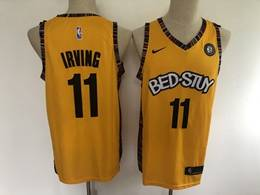 Mens Nba Brooklyn Nets #11 Kyrie Irving Yellow Bed-stuy 2020 Music Edition Nike Swingman Jersey