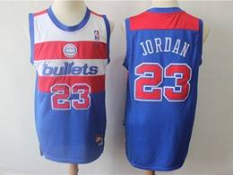 Mens Nba Washington Wizards #23 Michael Jordan Blue Mitchell&ness Bullets Nike Swingman Jersey