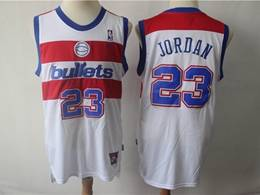 Mens Nba Washington Wizards #23 Michael Jordan White Mitchell&ness Bullets Nike Swingman Jersey
