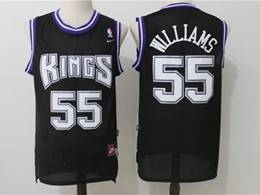 Mens Nba Sacramento Kings #55 Jason Williams Black Mitchell&ness Mesh Jersey