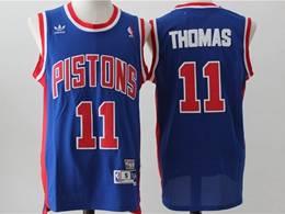Mens Nba Detroit Pistons #11 Isiah Thomas Blue Mitchell&ness Hardwood Classics Swingman Adidas Jersey