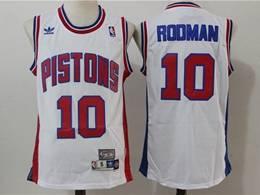 Mens Nba Detroit Pistons #10 Dennis Rodman White Mitchell&ness Hardwood Classics Swingman Adidas Jersey