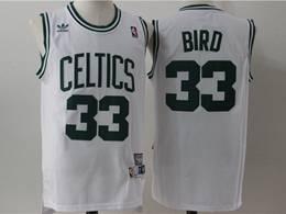 Mens Nba Boston Celtics #33 Larry Bird White Mitchell&ness Hardwood Classics Swingman Jersey