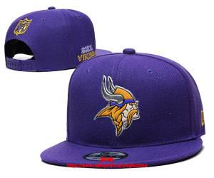 Mens Nfl Minnesota Vikings Snapback Adjustable Hats Purple Ec8501007