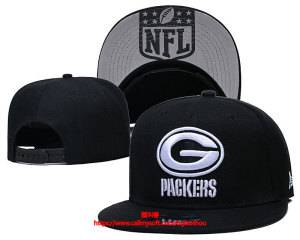 Mens Nfl Green Bay Packers Snapback Adjustable Hats Black Ec8501011
