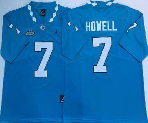 Mens Ncaa Nfl North Carolina Tar Heels #7 Sam Howell Blue College Vapor Untouchable Limited Jersey