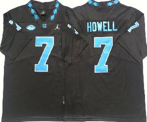 Mens Ncaa Nfl North Carolina Tar Heels #7 Sam Howell Black College Vapor Untouchable Limited Jersey