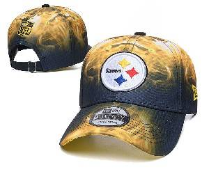 Mens Nfl Pittsburgh Steelers Team Color Multicolour Gradient Snapback Adjustable Curved Hats Ec8501030