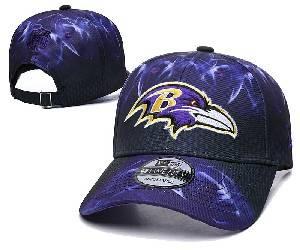 Mens Nfl Baltimore Ravens Team Color Multicolour Gradient Snapback Adjustable Curved Hats