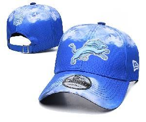 Mens Nfl Detroit Lions Team Color Multicolour Gradient Snapback Adjustable Curved Hats