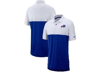 Mens Nfl Buffalo Bills Blue White Nike Sideline Early Season Performance Polo T Shirt