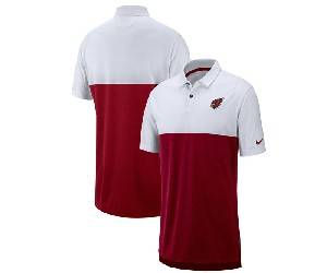 Mens Nfl Arizona Cardinals Red White Nike Sideline Early Season Performance Polo T Shirt