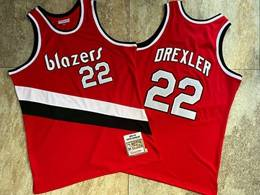 Mens Nba Portland Trail Blazers #22 Clyde Drexler Red 1983-84 Mitchell&ness Hardwood Classics Swingman Jersey