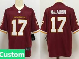 Mens Nfl Washington Redskins Custom Made Red Vapor Untouchable Football Team Nike Jersey