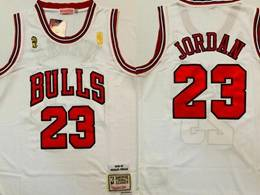 Mens Nba Chicago Bulls #23 Michael Jordan White 1996-97 Nba Finals Mitchell&ness Hardwood Classics Jersey