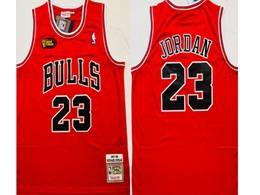Mens Nba Chicago Bulls #23 Michael Jordan Red 1997-98 Nba Finals Mitchell&ness Hardwood Classics Mesh Jersey