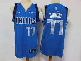Mens Nba Dallas Mavericks #77 Luka Doncic Light Blue Swingman Nike Jersey
