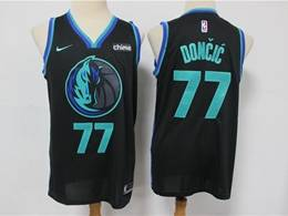 Mens Nba Dallas Mavericks #77 Luka Doncic Black 2019 City Edition Nike Swingman Jersey