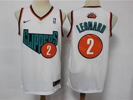 Mens Nba Los Angeles Clippers #2 Kawhi Leonard White Destination Edition Swingman Nike Jersey